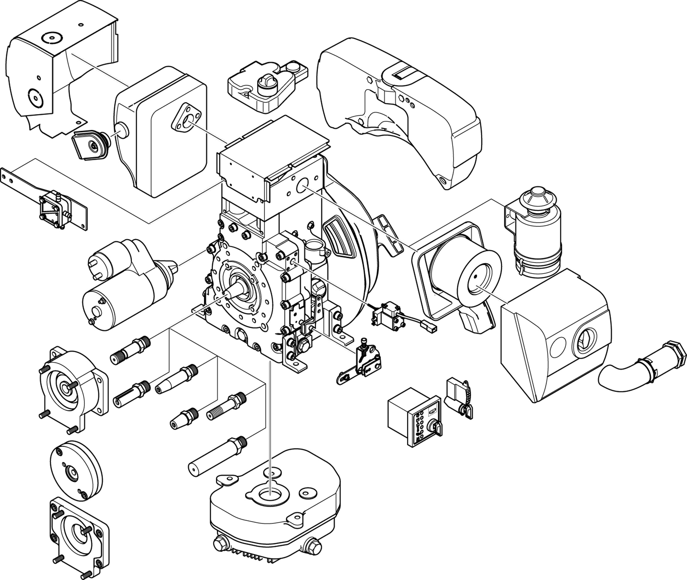 Diesel Engine Components Diagram Wiring Library Ford Harness Features